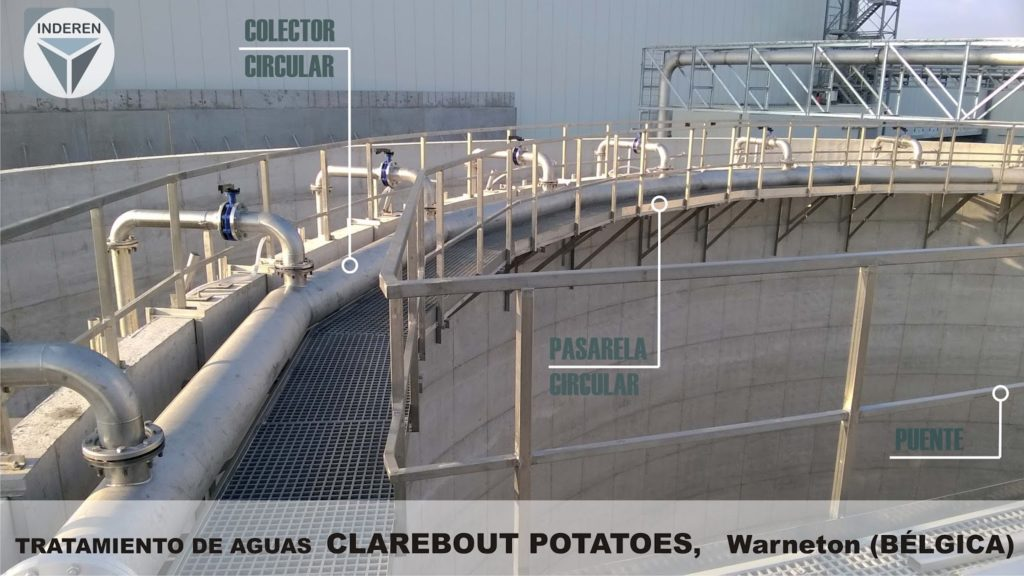 Platforms and water treatment in Clarebout Potatoes Warneton Belgium