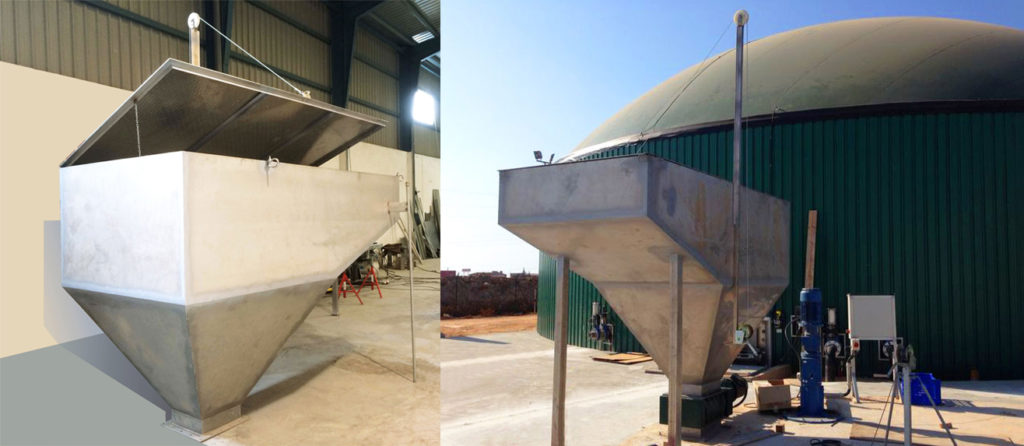 Manufacturing and Installation of the Dumping Hopper