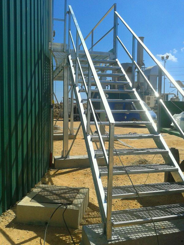 Manufacturing and Installation of Platforms and Stairs (Horizontal Stair, Curved Platform CS Galvanized)