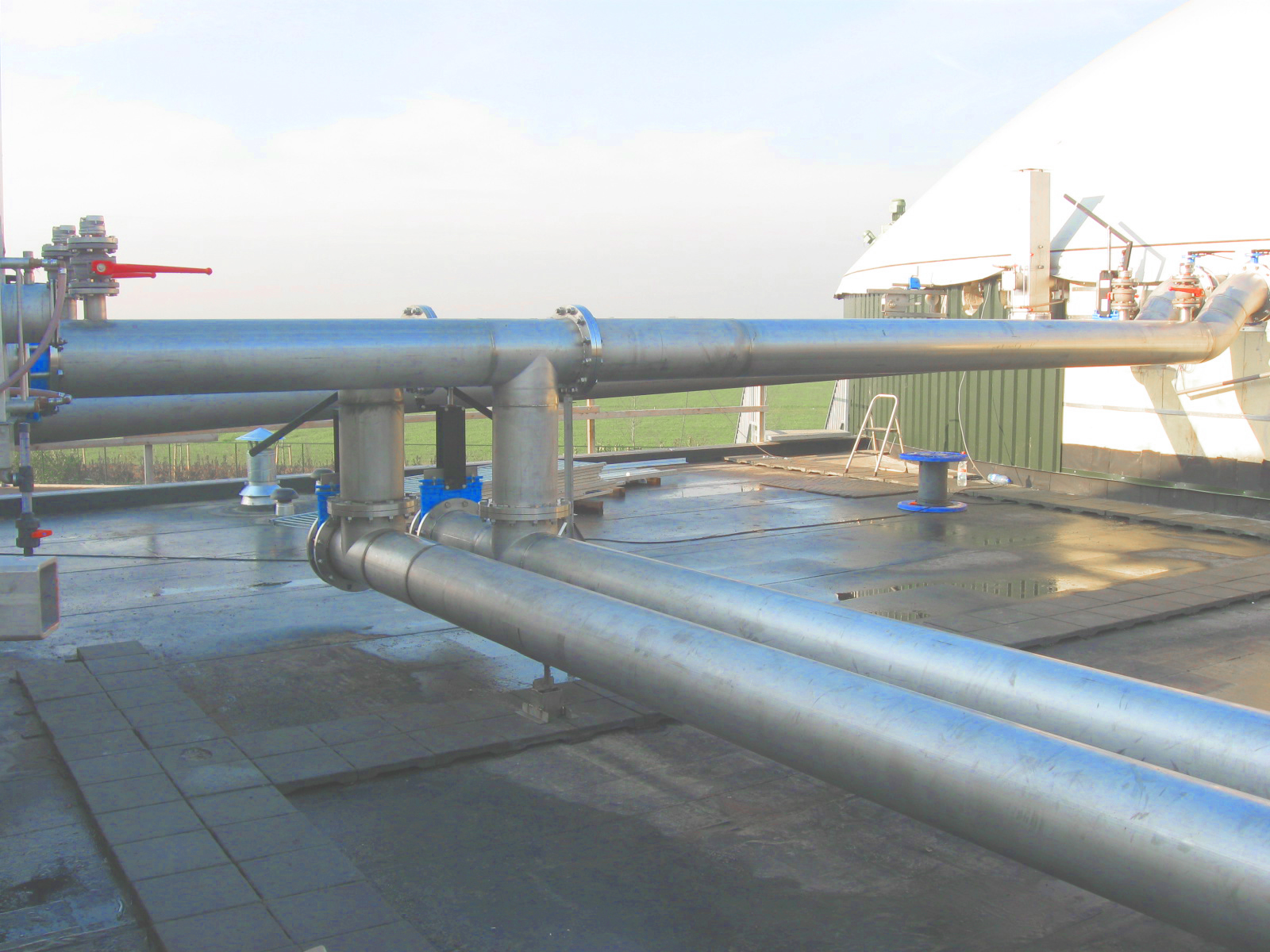 02 Planta de Biogás de 2 MW en Moerstraten Países Bajos - Galvanized Piping and Appliance Installations