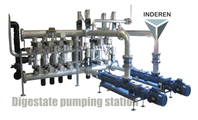 03 Planta de Biogás de 2 MW en Moerstraten Países Bajos - Colector bombeo sustratos - Digestate Pumping Station