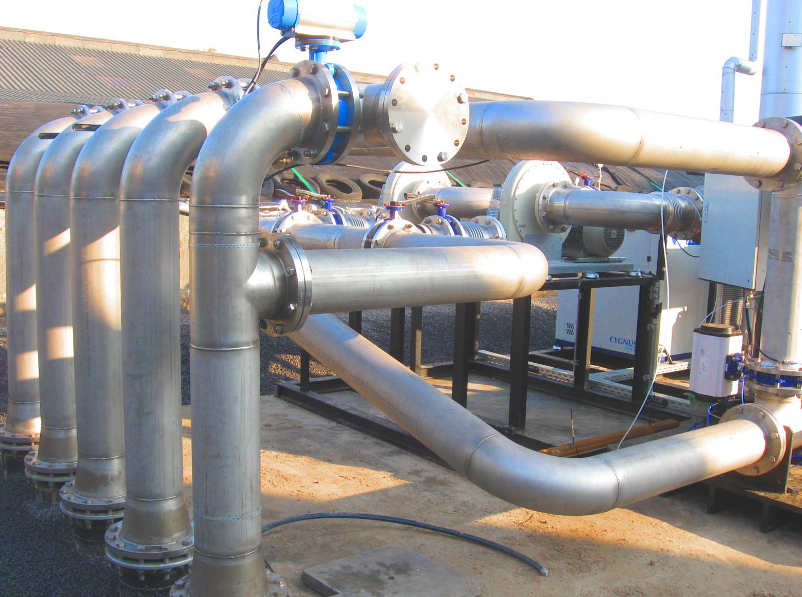 08 Planta de Biogás de 2 MW en Moerstraten Países Bajos - Colector gas