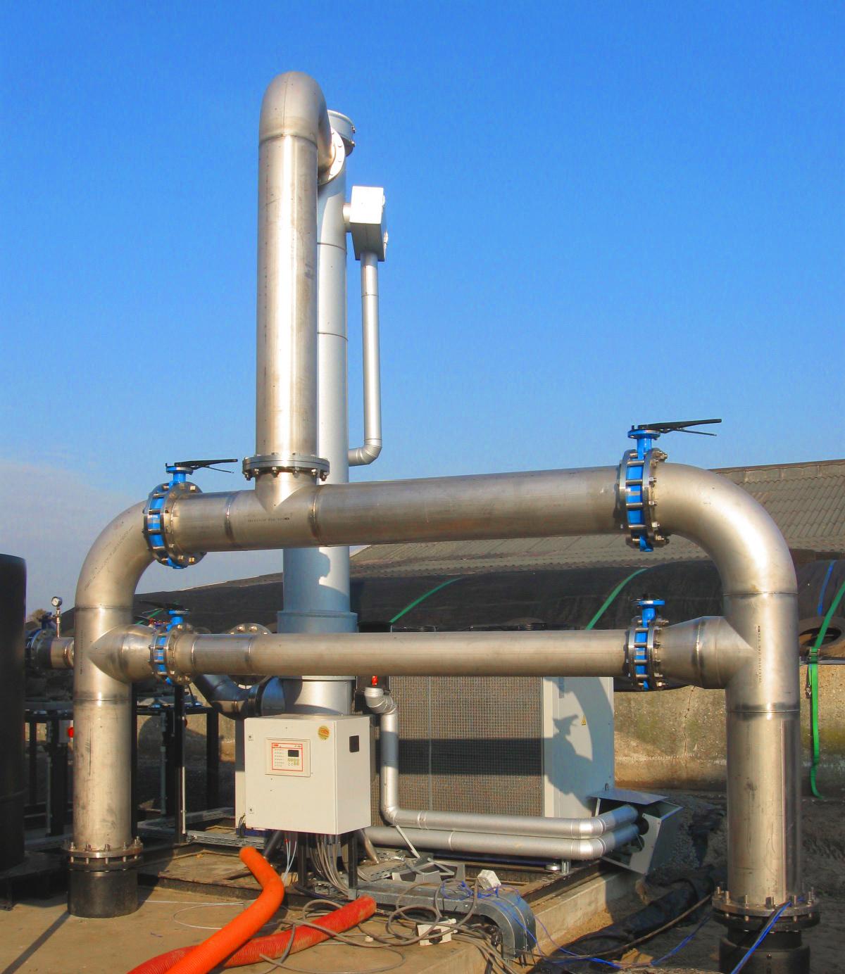 09 Planta de Biogás de 2 MW en Moerstraten Países Bajos - Entrada de gas enfriadora