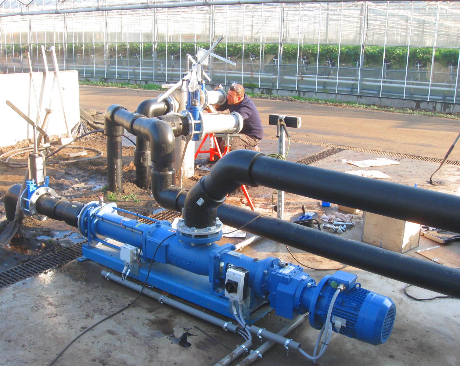 11 Planta de Biogás de 2 MW en Moerstraten Países Bajos - Trabajos tubería polietileno