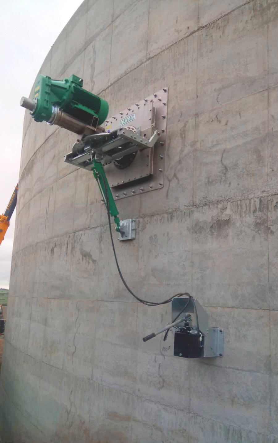 Agitadores-Planta Biogás 1MW Inchdairnie Reino Unido