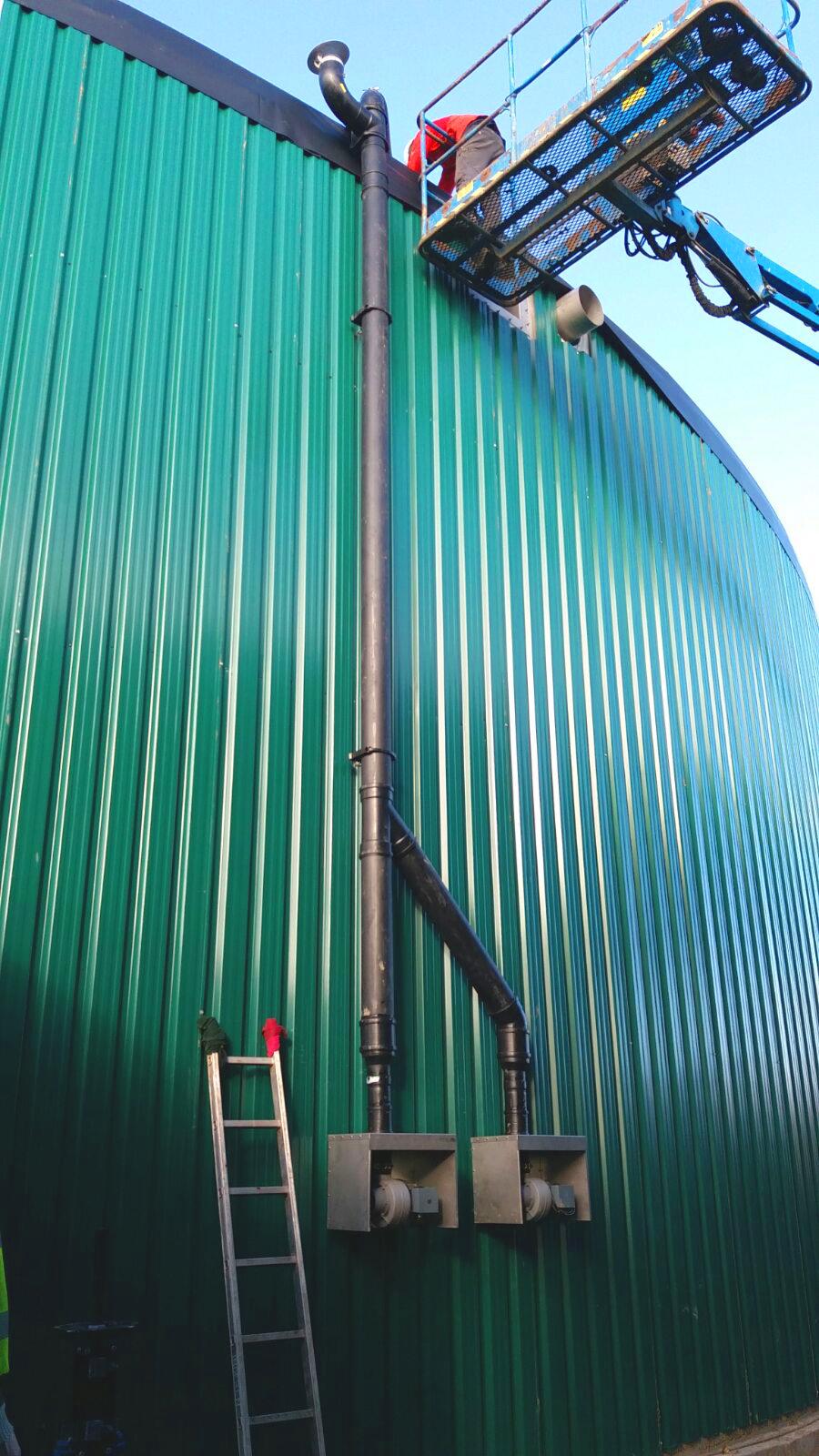 Instalación de Gasómetros01-Planta Biogás 1MW Inchdairnie Reino Unido