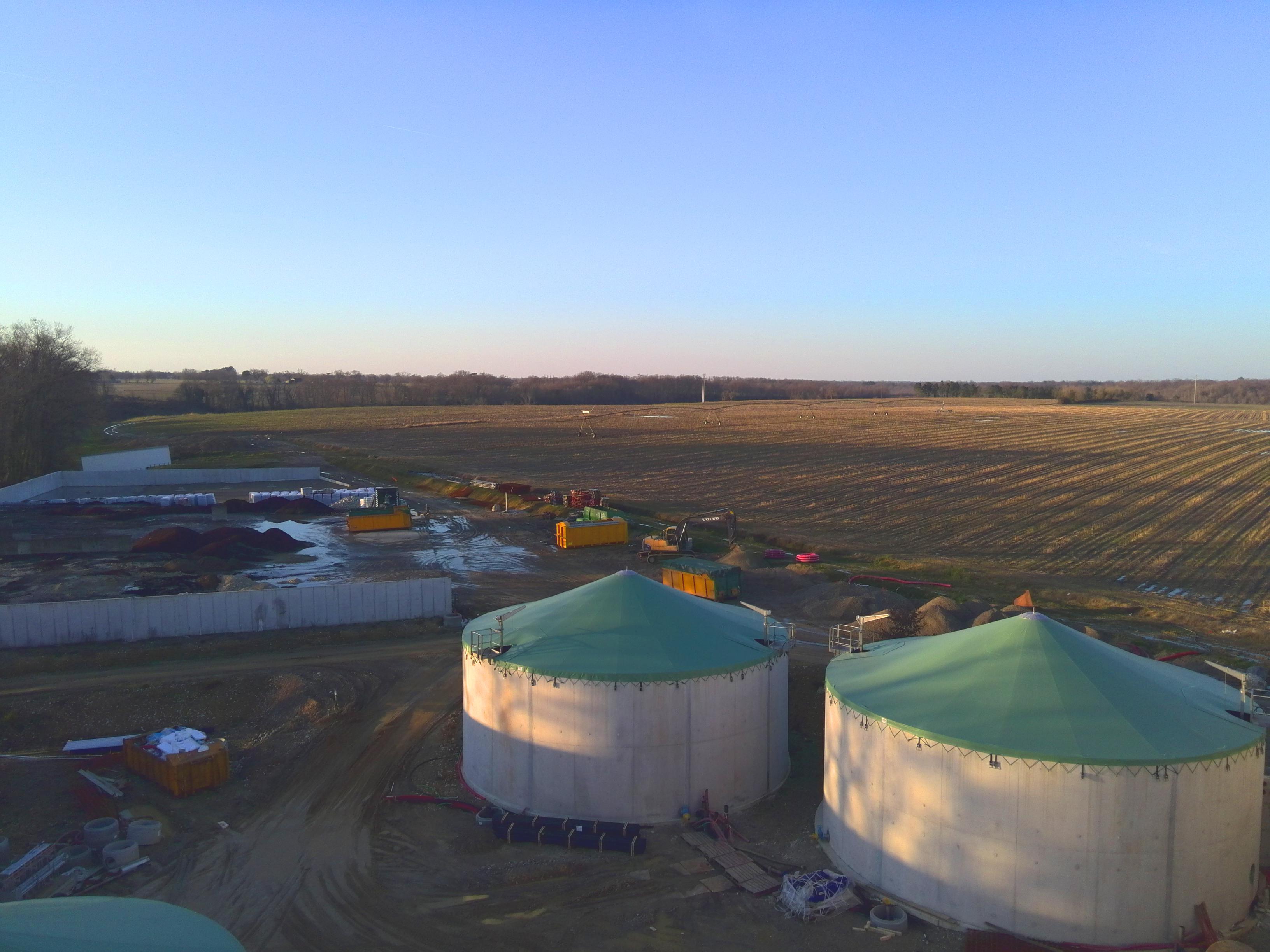 Planta de Biogás de 500 kW en Aire-sur-l'Adour Francia 02
