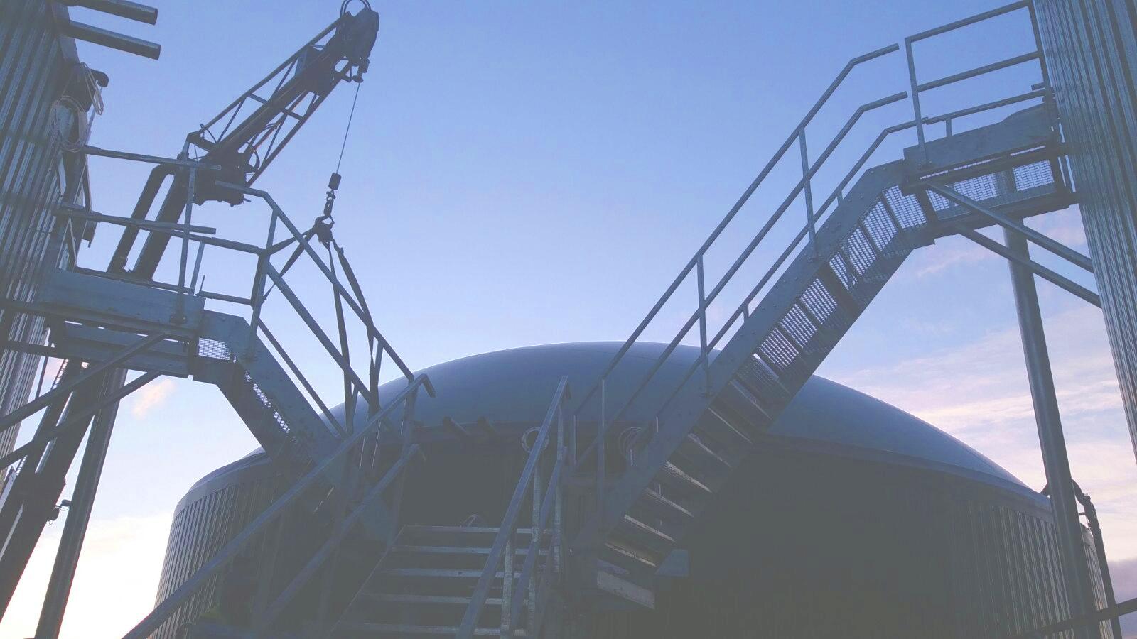 Plataformas y Escaleras01-Planta Biogás 1MW Inchdairnie Reino Unido