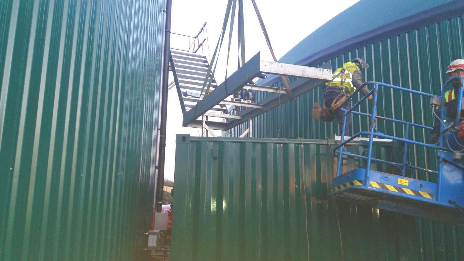 Plataformas y Escaleras02-Planta Biogás 1MW Inchdairnie Reino Unido
