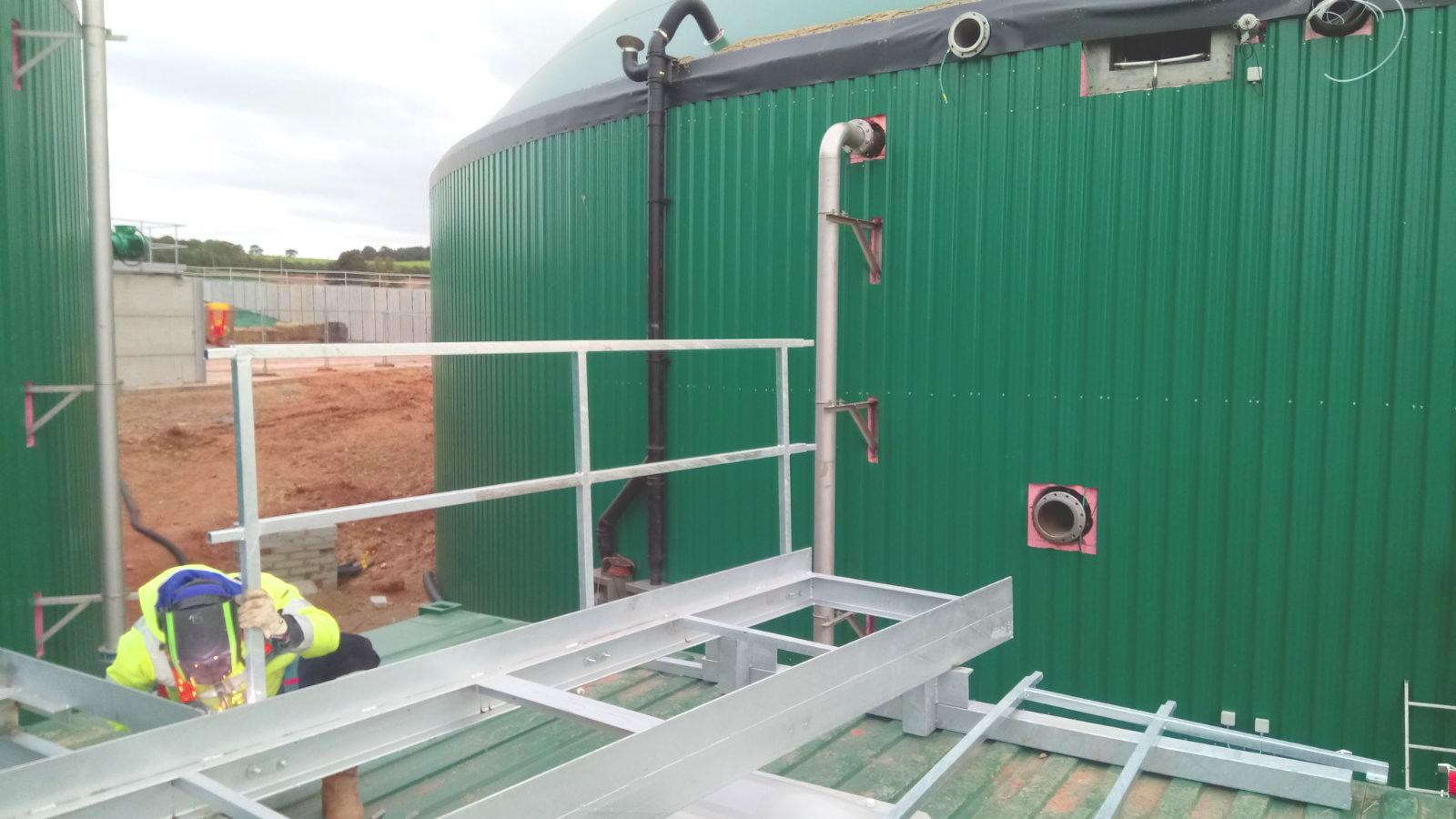 01 Escaleras y Plataformas-Planta de Biogás de 1MW en Stracathro Reino Unido