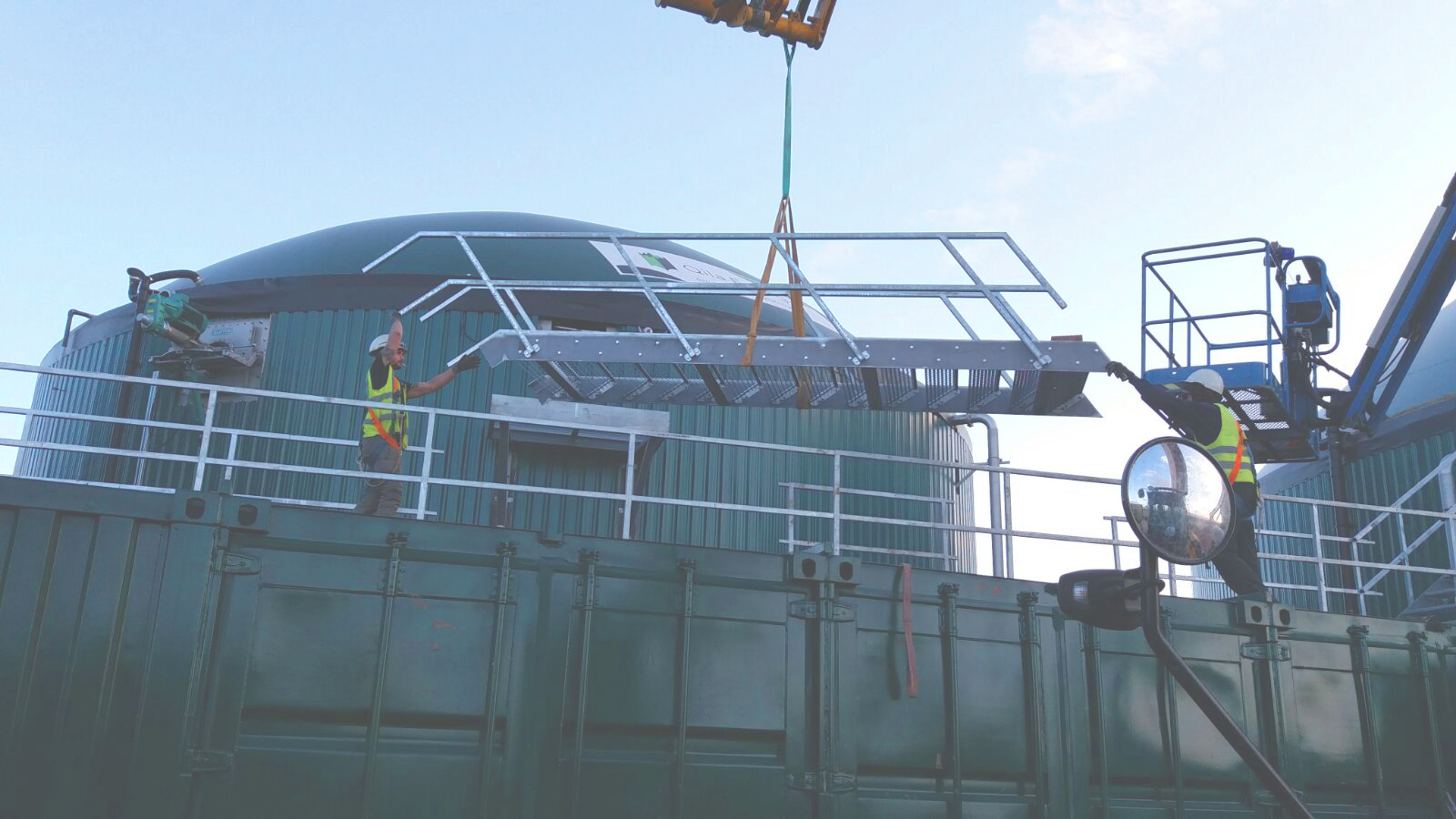 11 Escaleras y Plataformas-Planta de Biogás de 1MW en Stracathro Reino Unido