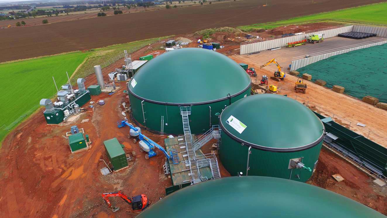 Biogas Stracathro United Kingdom 11 Drone-Planta de Biogás de 1MW en Stracathro Reino Unido