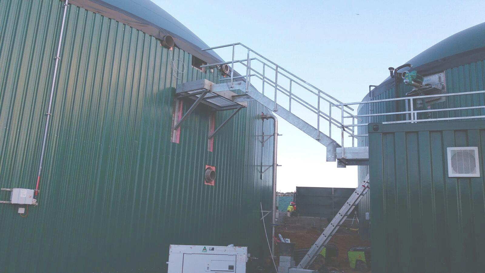 02 Escaleras y Plataformas-Planta de Biogás de 1MW en Stracathro Reino Unido