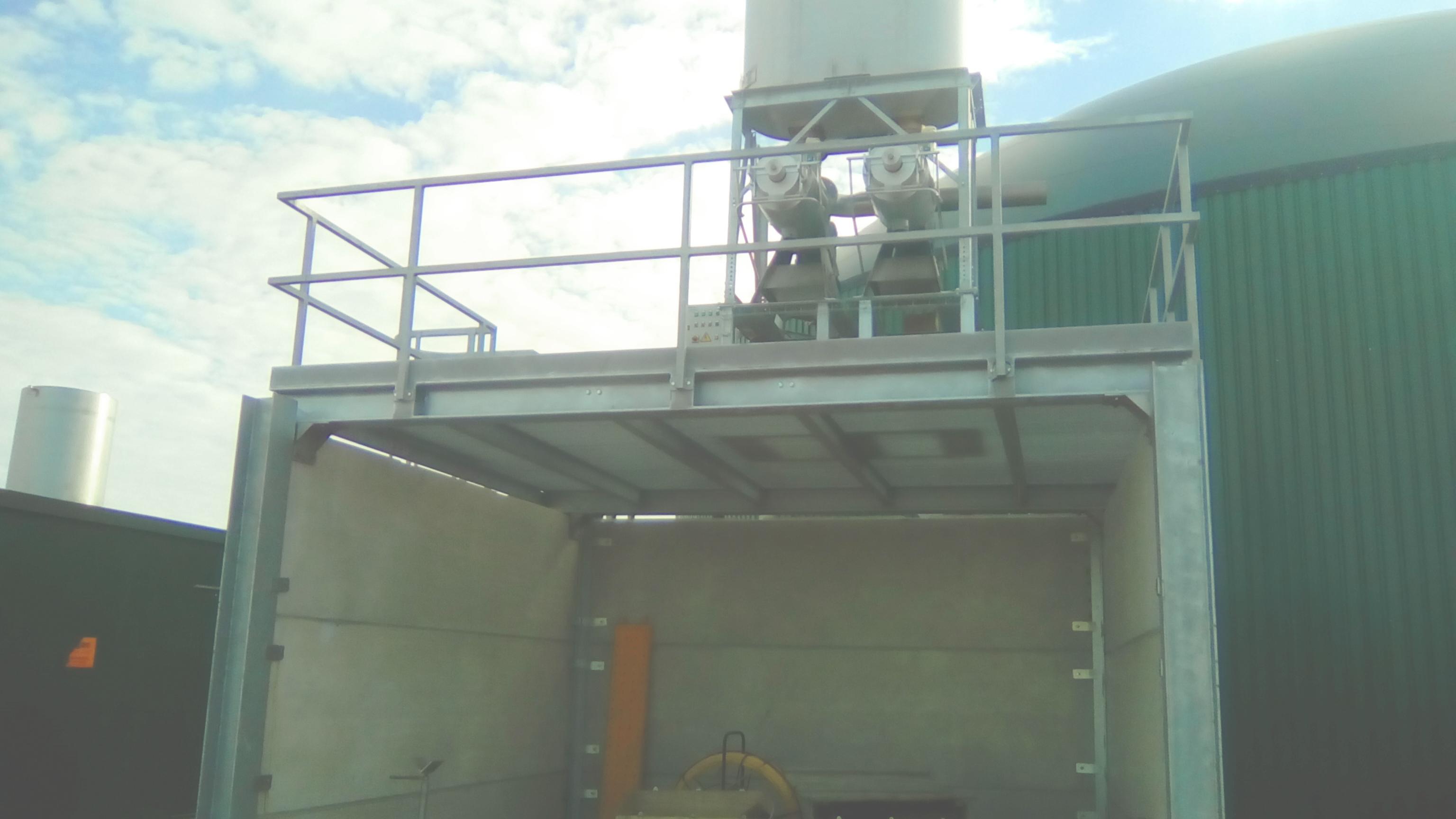 05 Instalación de Separadores y Plataforma-Planta de Biogás de 1MW en Stracathro Reino Unido