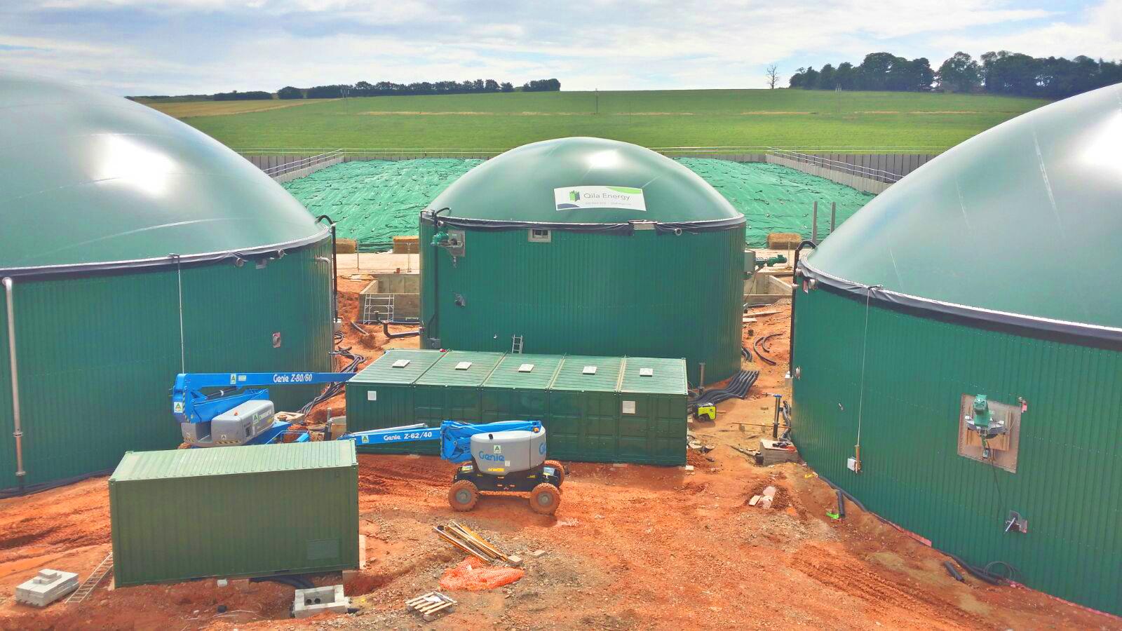 06 Instalación de Gasómetros-Planta de Biogás de 1MW en Stracathro Reino Unido
