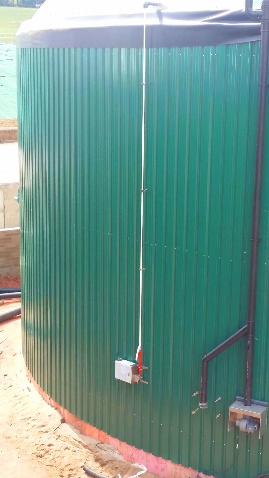 07 Sensor de Nivel de gasómetros-Planta de Biogás de 1MW en Stracathro Reino Unido
