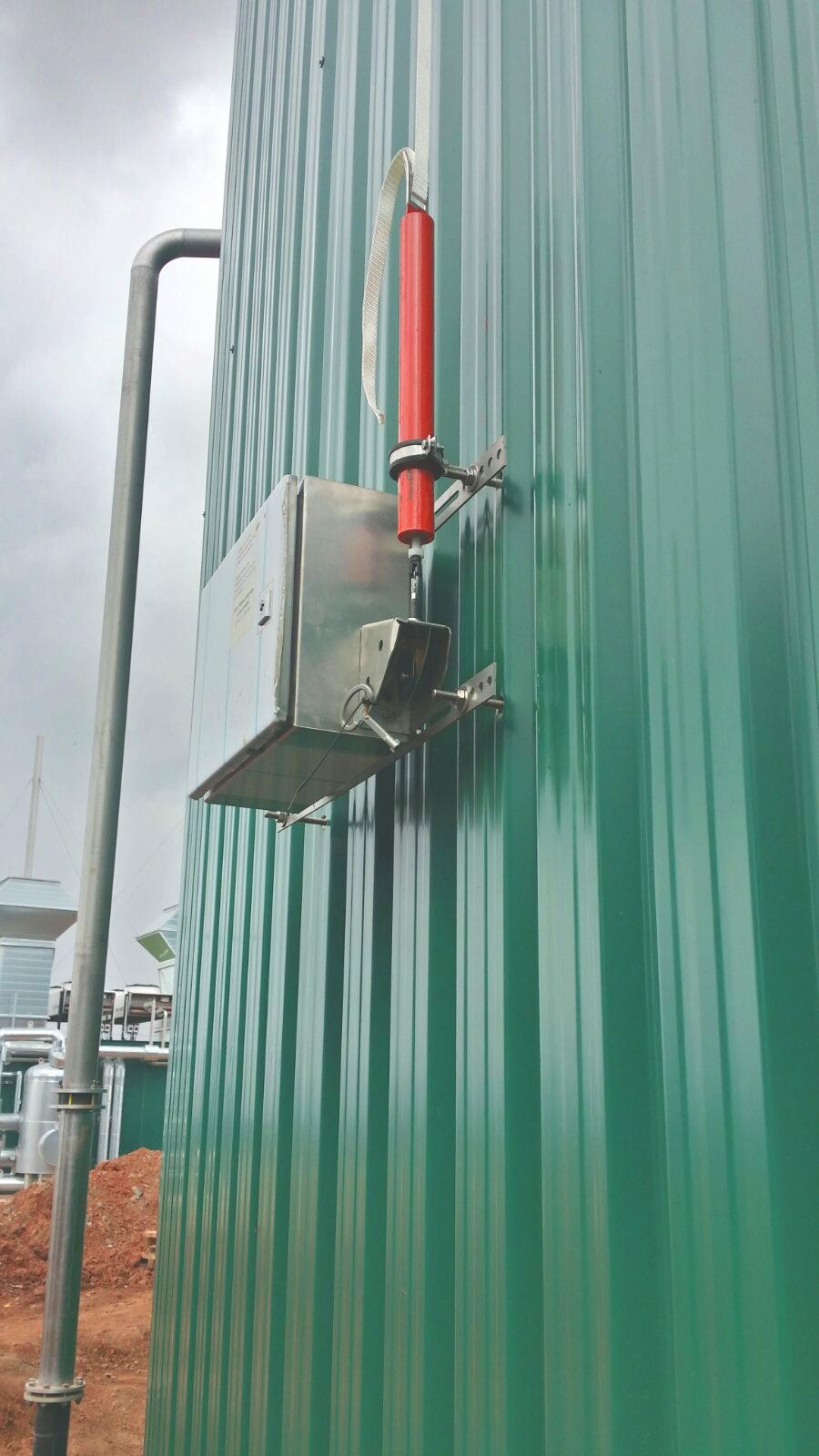 09 Sensor de Nivel de gasómetros-Planta de Biogás de 1MW en Stracathro Reino Unido