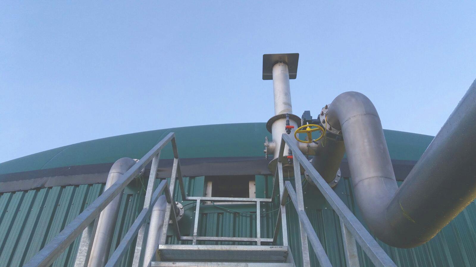 10 Válvulas de sobrepresión de gasómetros-Planta de Biogás de 1MW en Stracathro Reino Unido