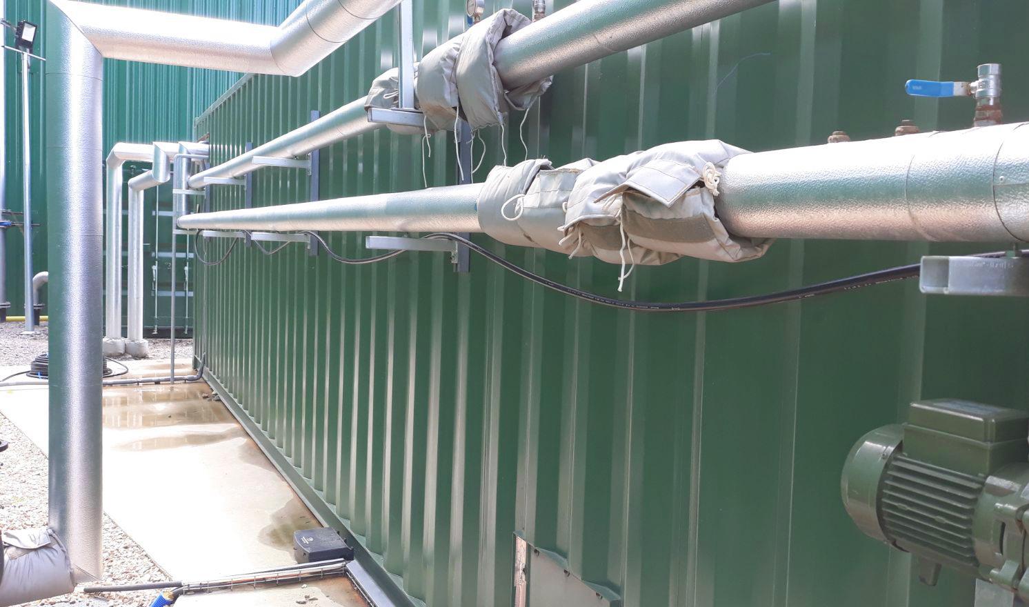 Aislamiento 01-Planta de Biogás de 1MW en Tornagrain Reino Unido