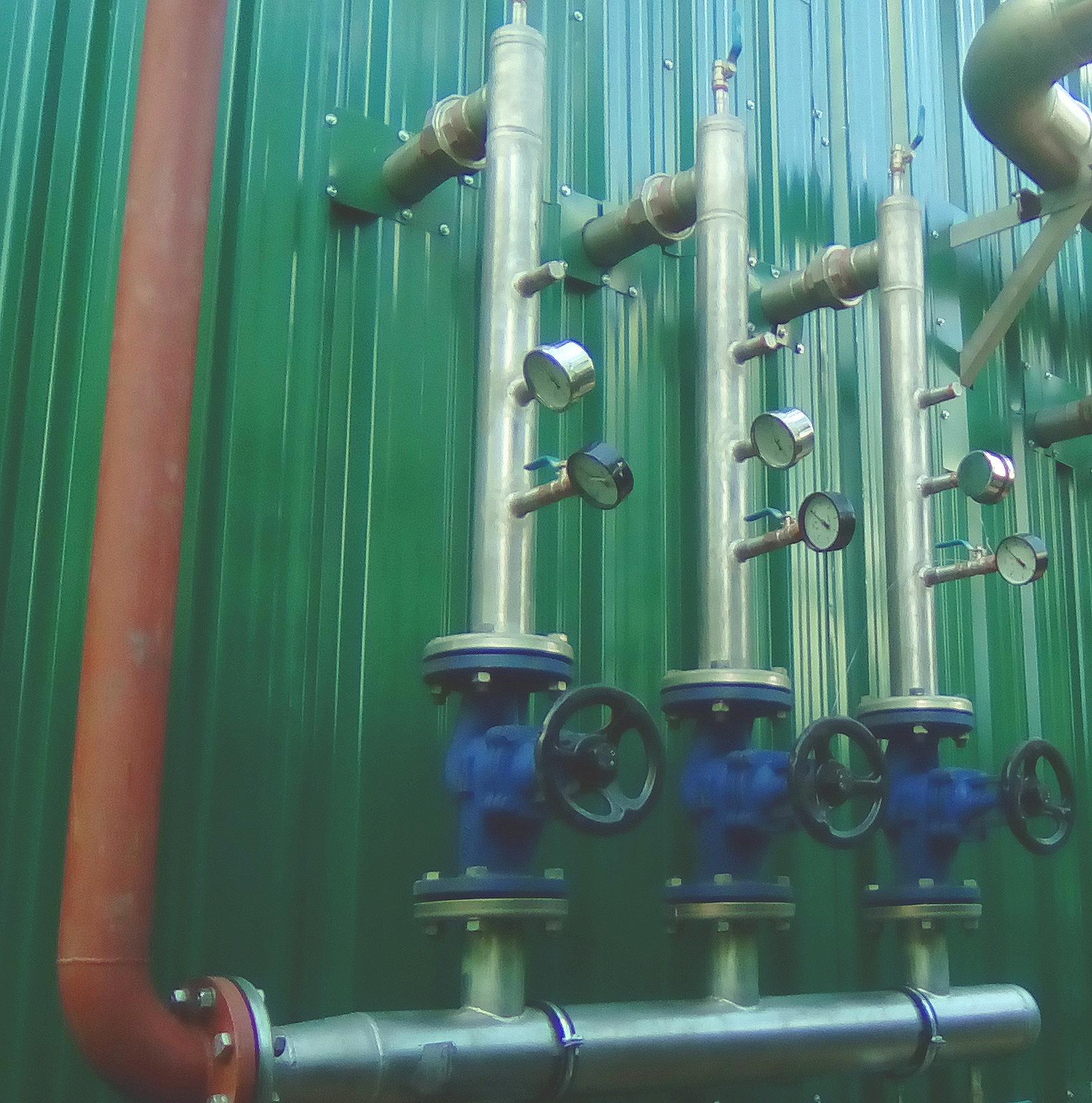 Colectores de calefacción-Planta de Biogás de 1MW en Tornagrain Reino Unido