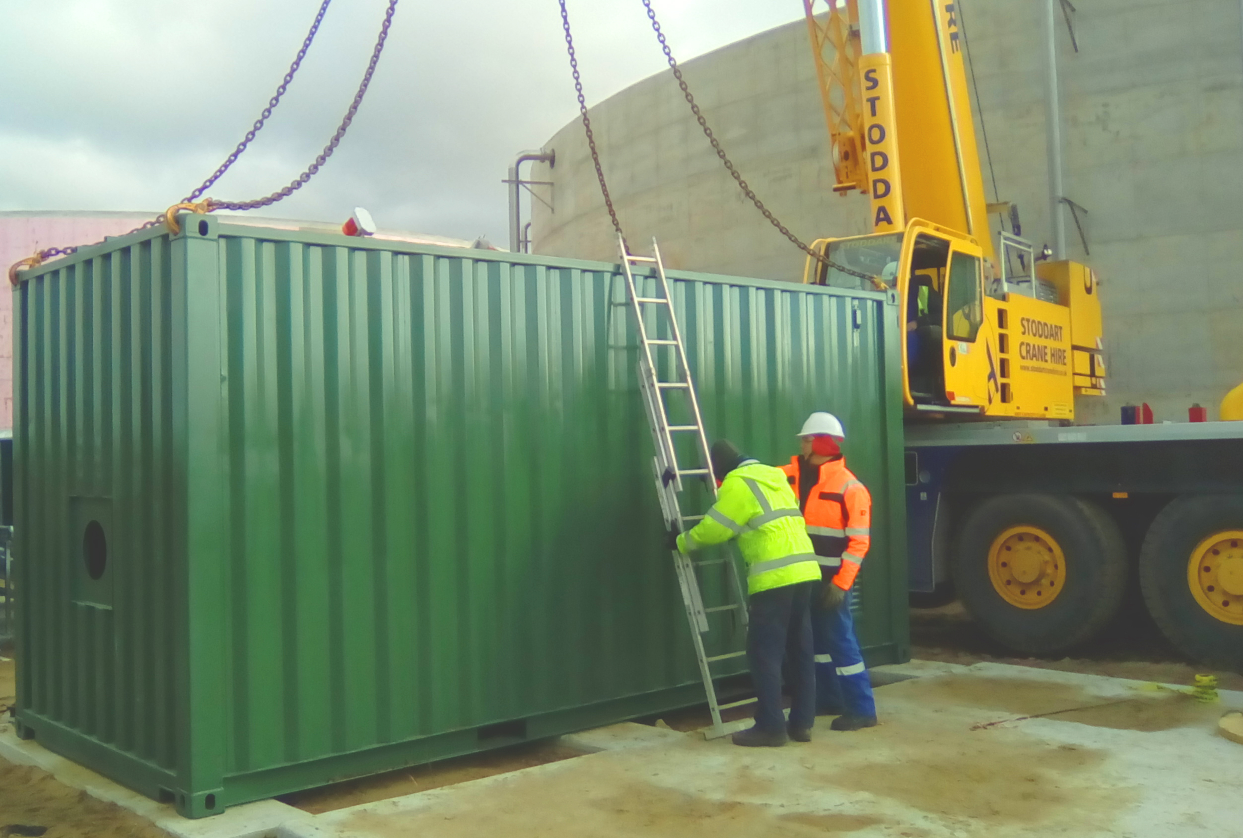 Contenedor Caldera 03-Planta de Biogás de 1MW en Tornagrain Reino Unido