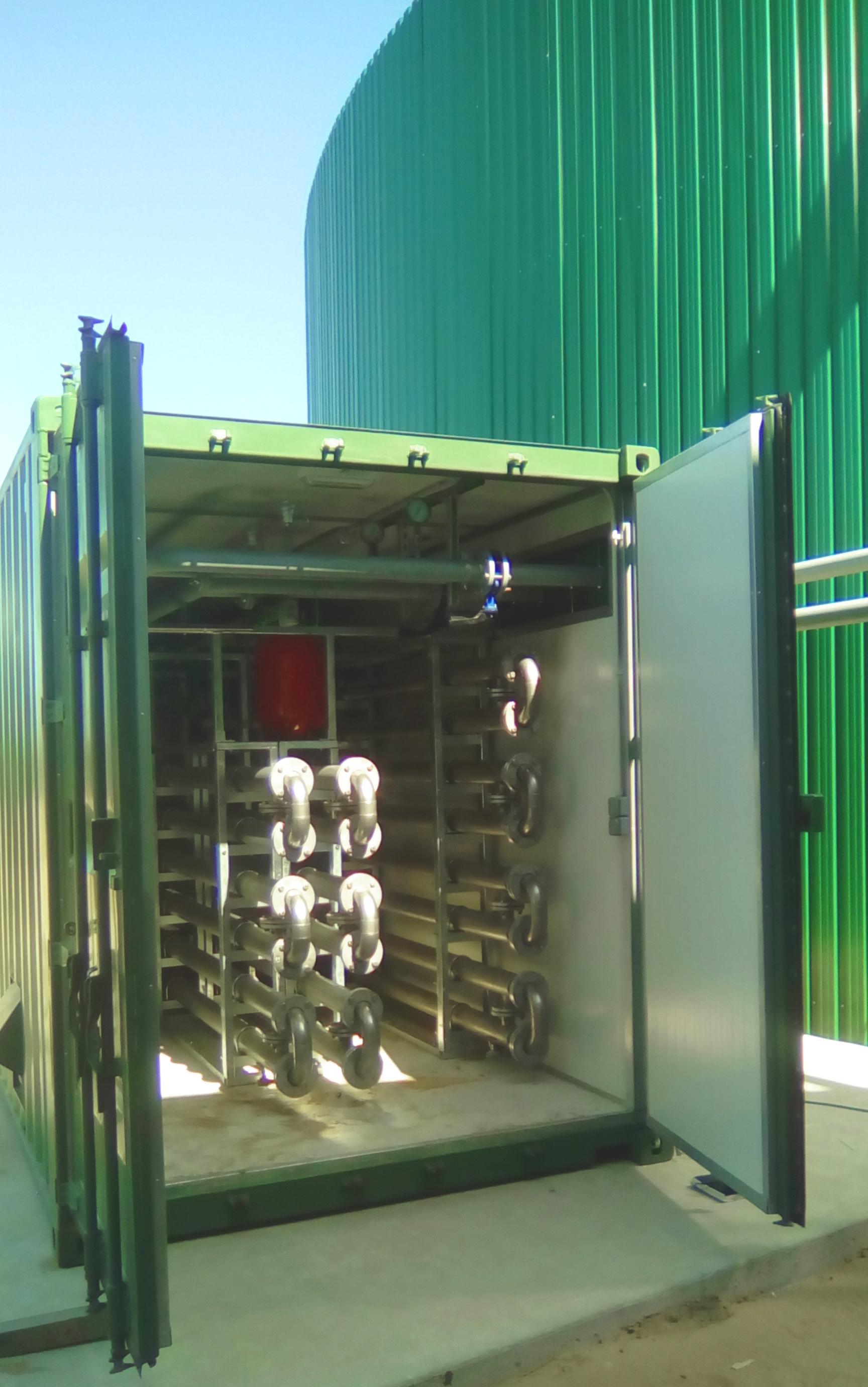 Pasteurizador 08-Planta de Biogás de 1MW en Tornagrain Reino Unido