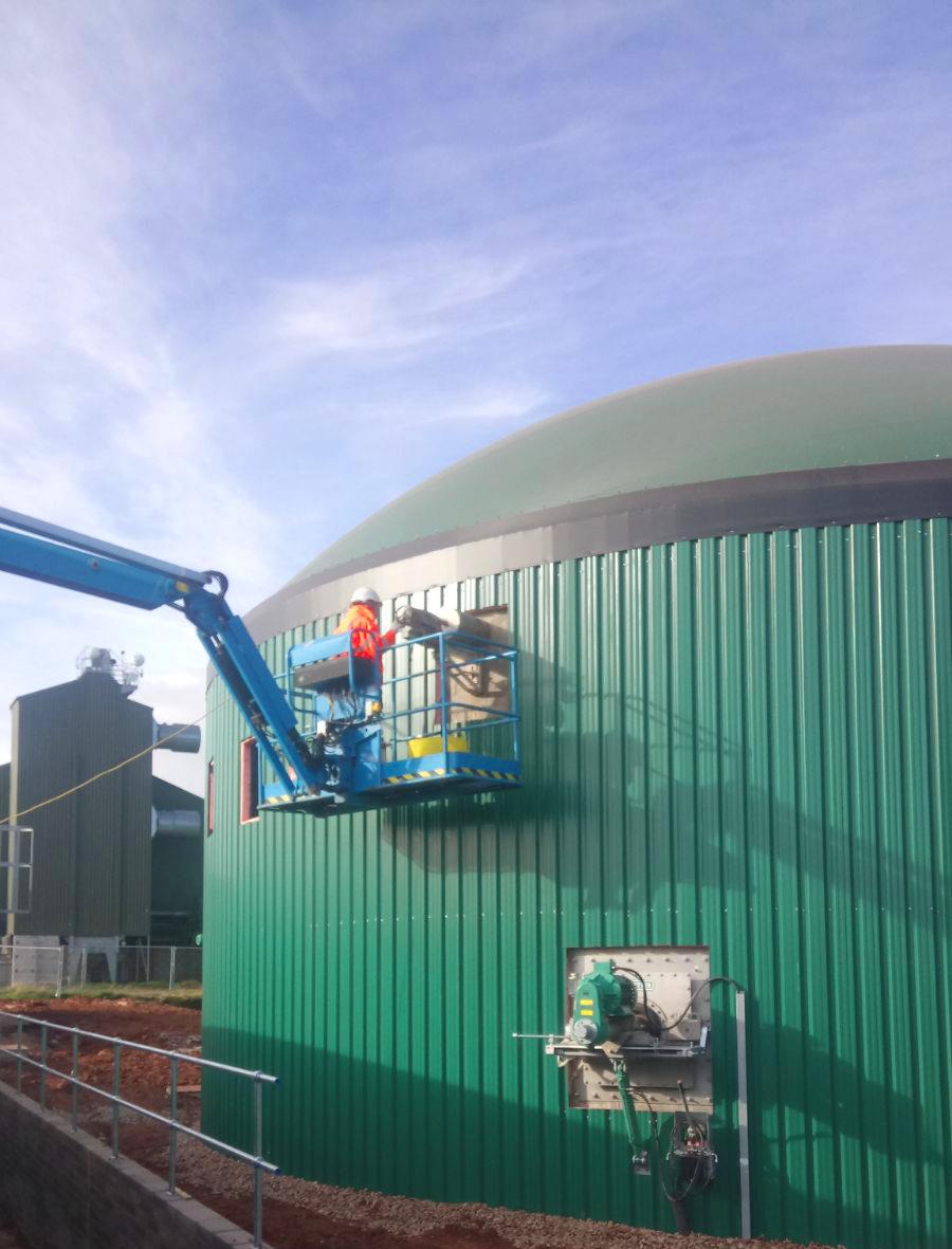 Biogas Stracathro United Kingdom Taladrado de Tanque de Hormigón-Planta de Biogás de 1MW en Stracathro Reino Unido