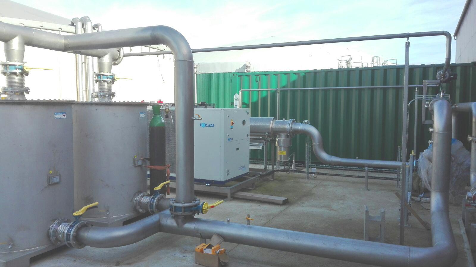 Biogás Vitaligaz Étréville Francia 01 Gas cooling-Vitaligaz-Envitec
