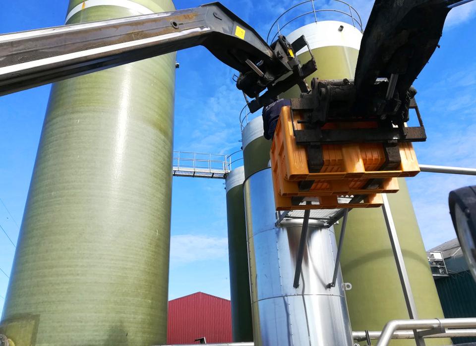 Biogás Vitaligaz Étréville Francia 01 Modificación línea de gas a motor CHP-Vitaligaz-Envitec