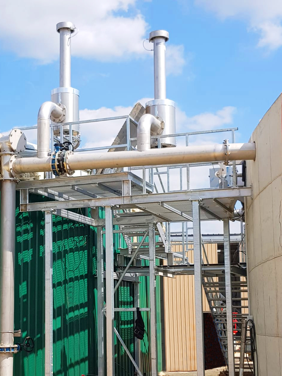 Biogas Fertioise Coudun France 01 Plataforma central y balanceo de gas-Fertioise-ENVITEC-Planta-Biogas-Compiegne-Francia