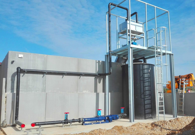 Biogas Fertioise Coudun France 05 Separador de sólidos- Fertioise-ENVITEC-Planta-Biogas-Compiegne-Francia