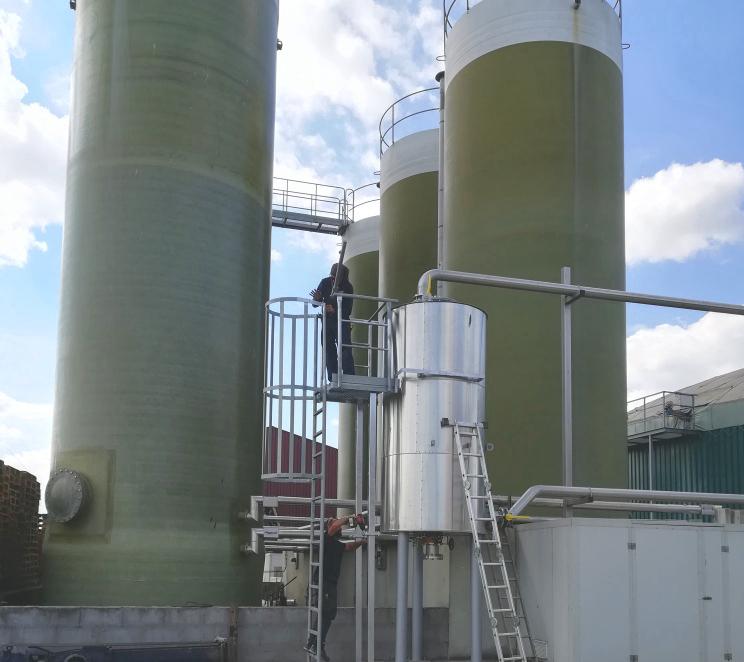 Biogás Vitaligaz Étréville Francia 06 Modificación línea de gas a motor CHP-Vitaligaz-Envitec