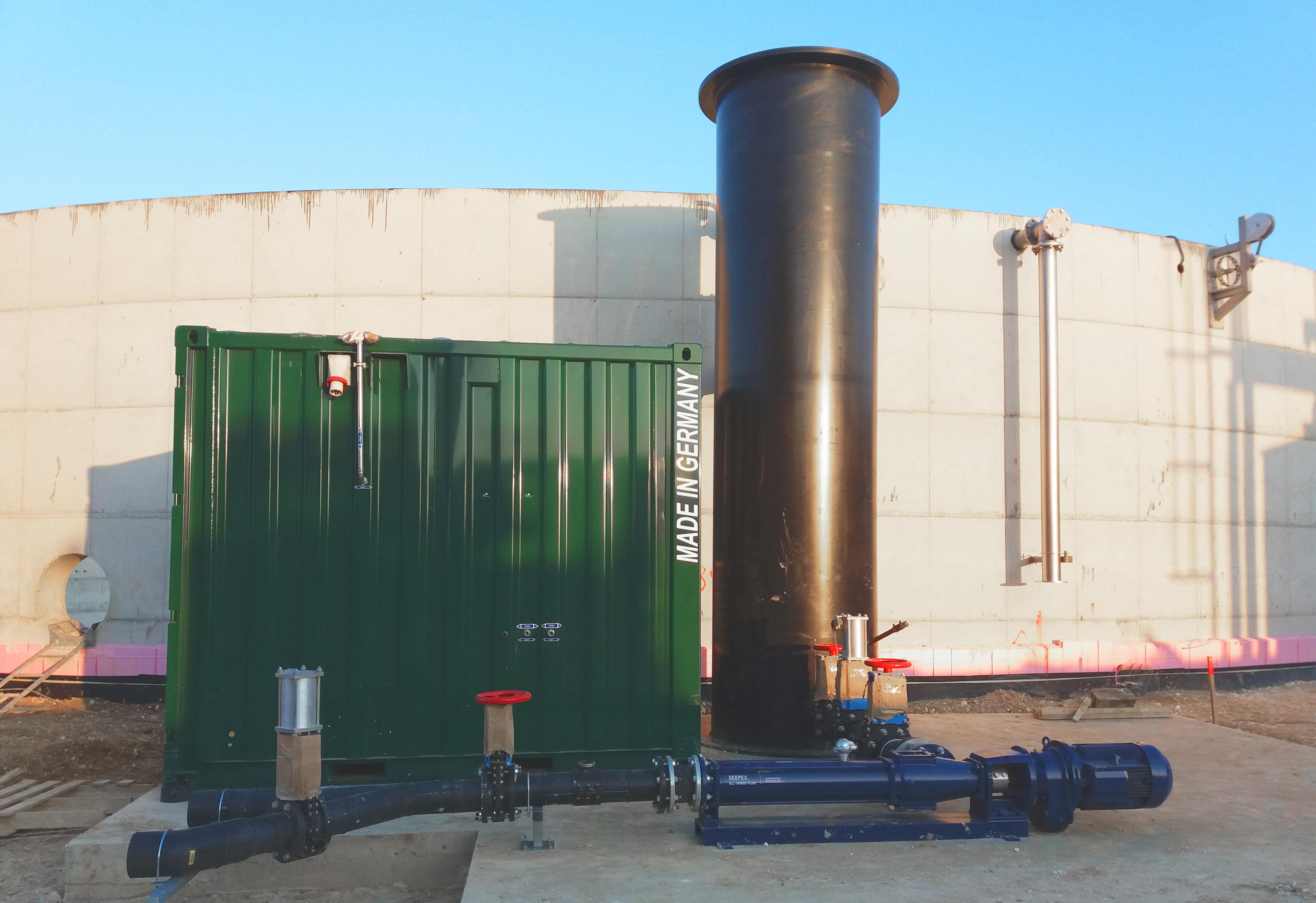 07 Recirculación y Contenedor Oxigeno-Fertioise-ENVITEC-Planta-Biogas-Coudun-Francia