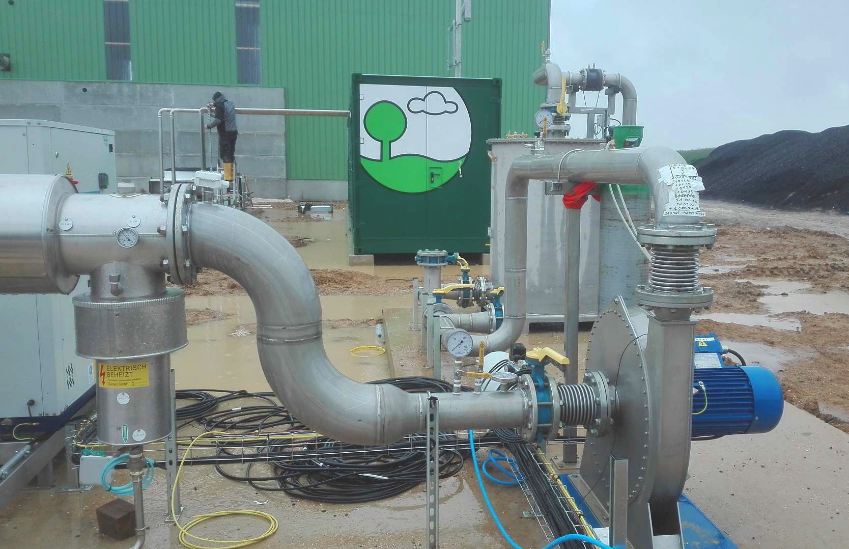 Mahé Biogas Boutigny France Trabajos de Piping-Mahe 02