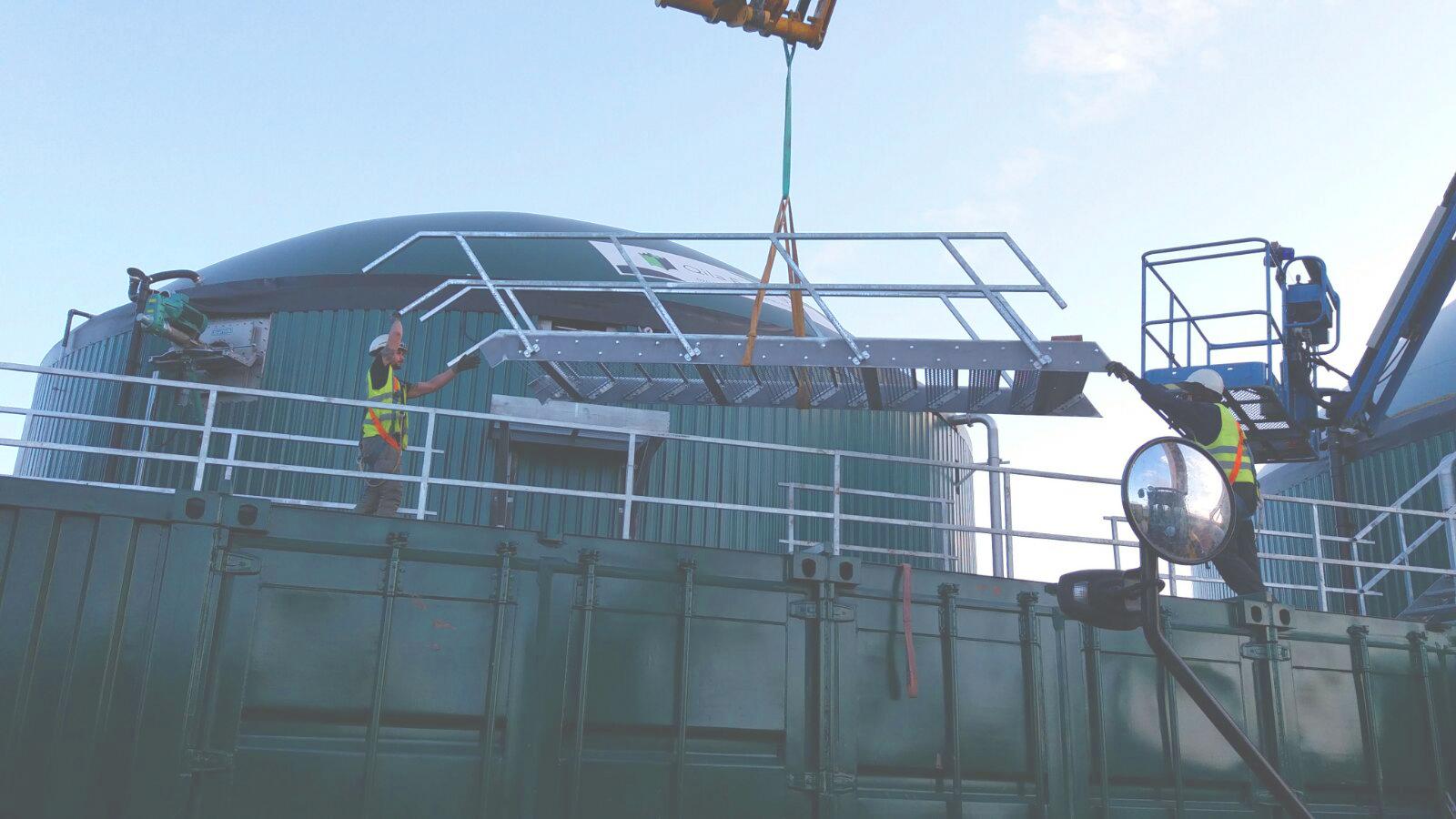 Biogas Stracathro United Kingdom 11 Escaleras y Plataformas-Planta de Biogás de 1MW en Stracathro Reino Unido