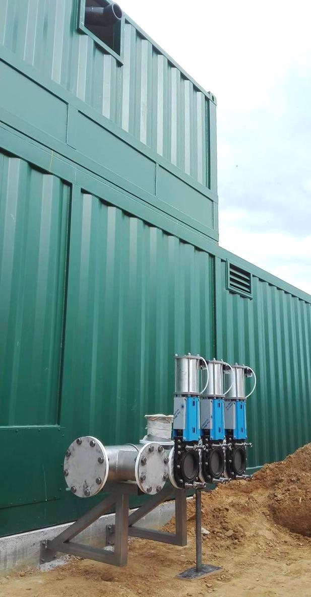 Biogás Planta Biometa Francia Contenedor de Proceso 03