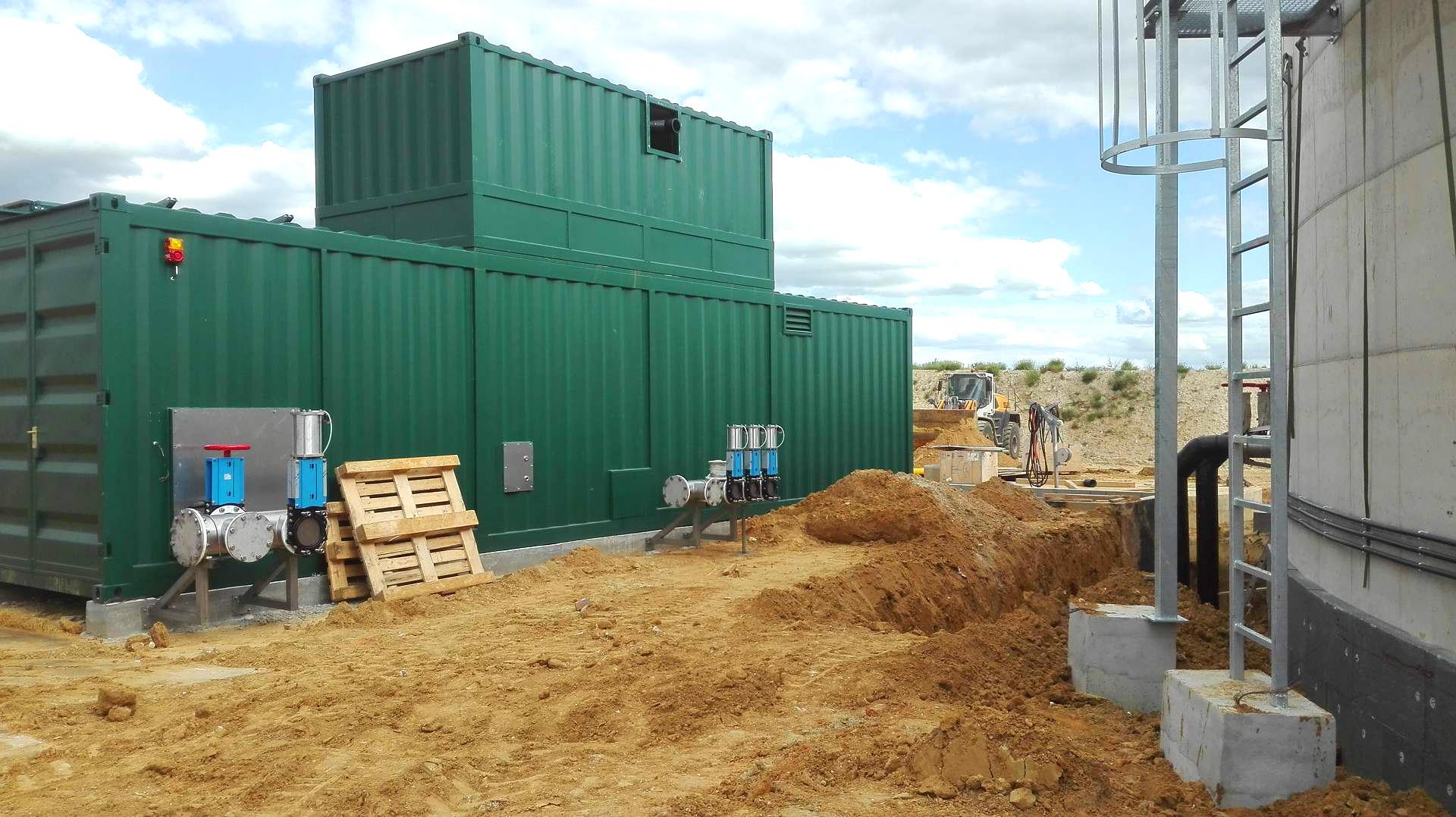 Biogás Planta Biometa Francia Contenedor de Proceso 04