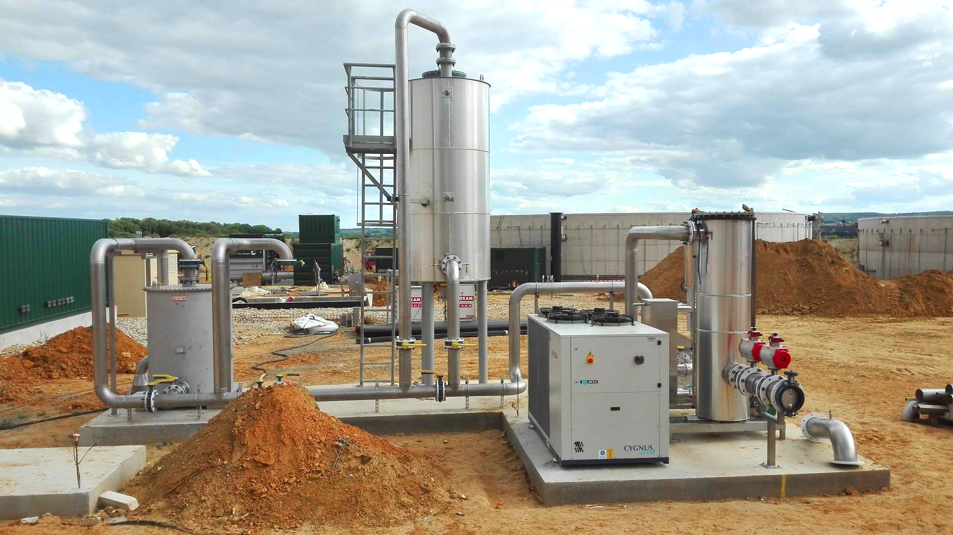 Biogas Plant Biometa France Gas cooling INDEREN 01