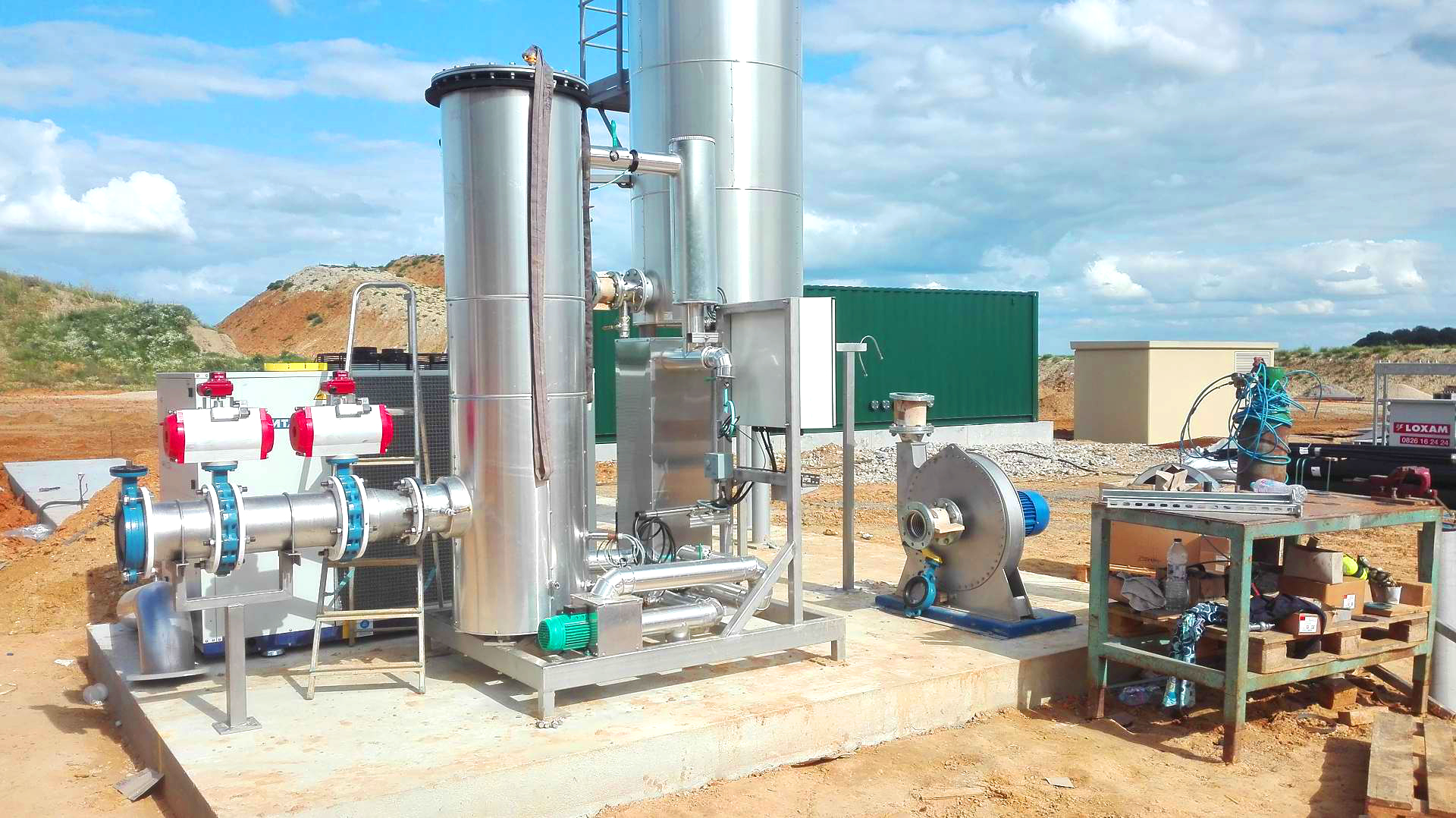 Biogas Plant Biometa France Gas cooling INDEREN 03