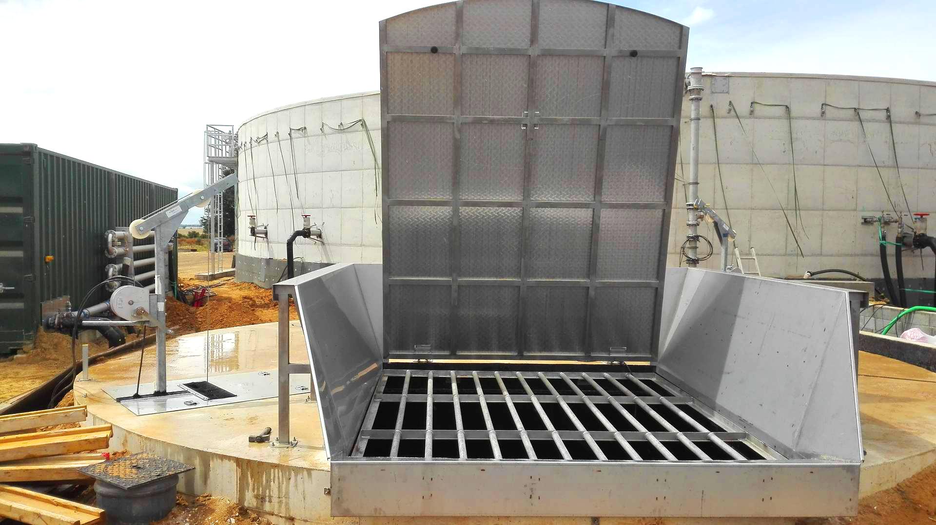 Biogas Plant Biometa France Tanque de recepción INDEREN 01