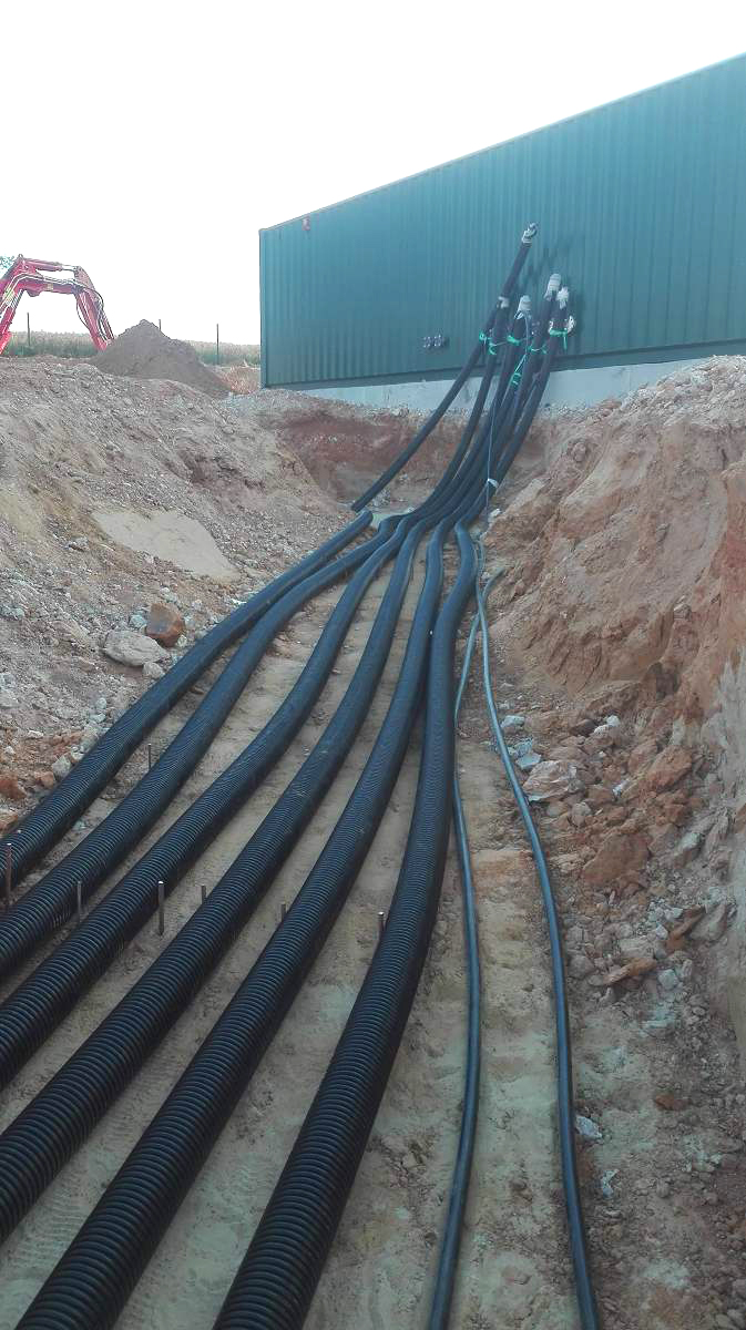 Biogas Plant Biometa France Tuberías enteradas Calefacción INDEREN 01