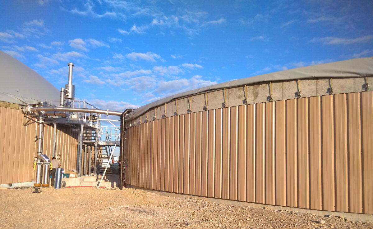 Biogas Plant Méthanisère France Cladding 01