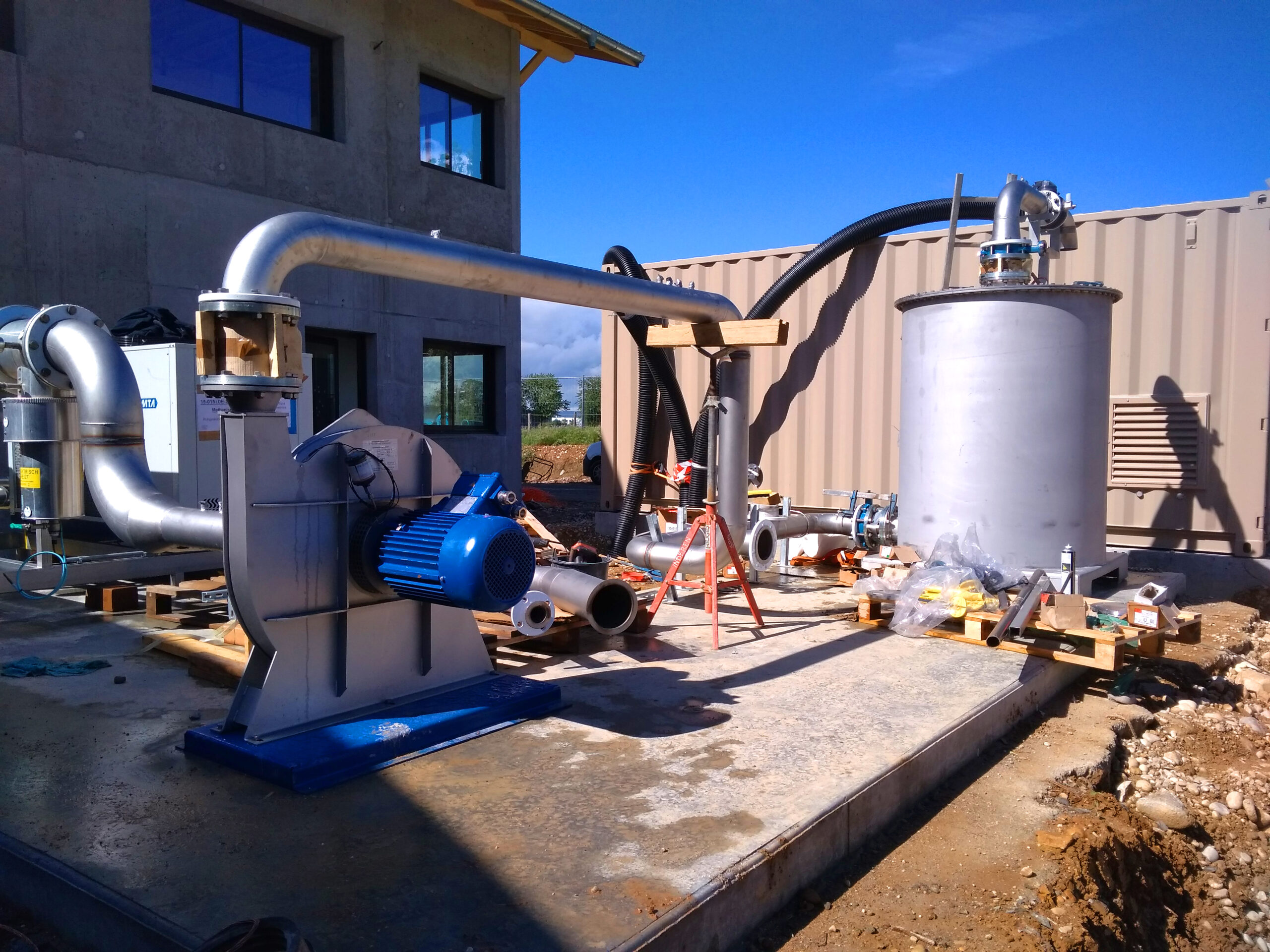 Biogás Planta Méthanisère Francia Gas Cooling 02