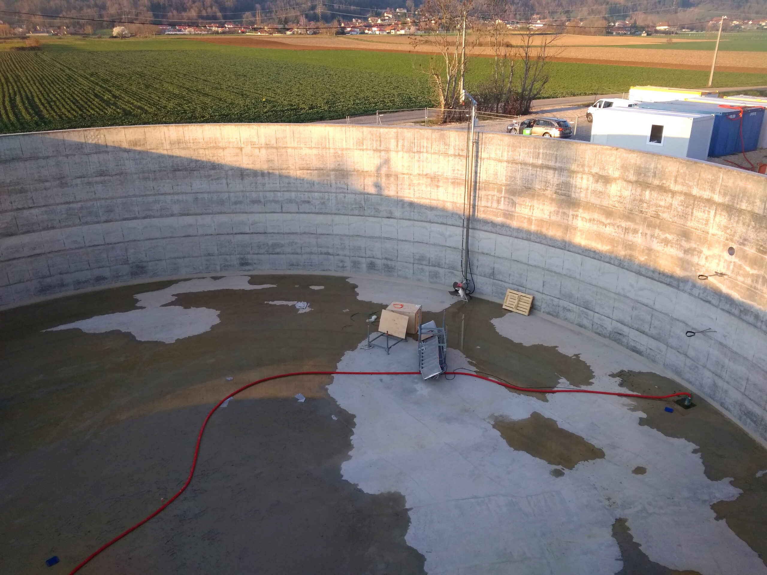 Biogás Planta Méthanisère Francia Montaje de Digestores 07
