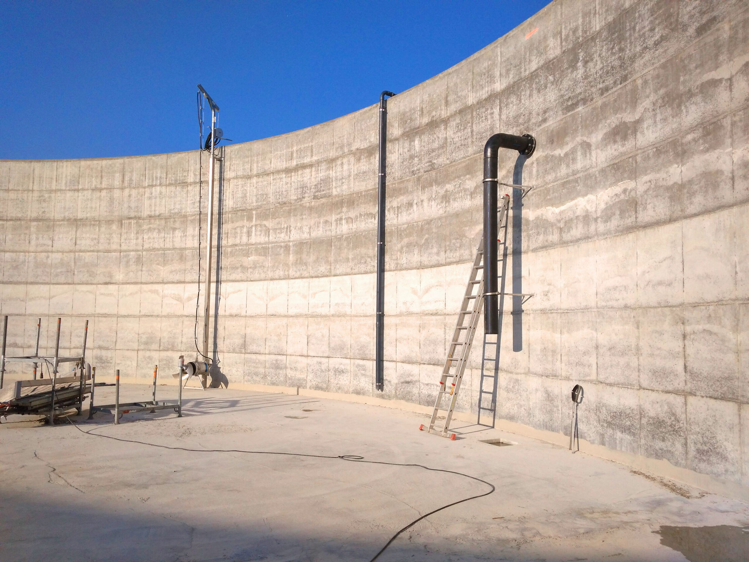 Biogás Planta Méthanisère Francia Montaje de Digestores 11