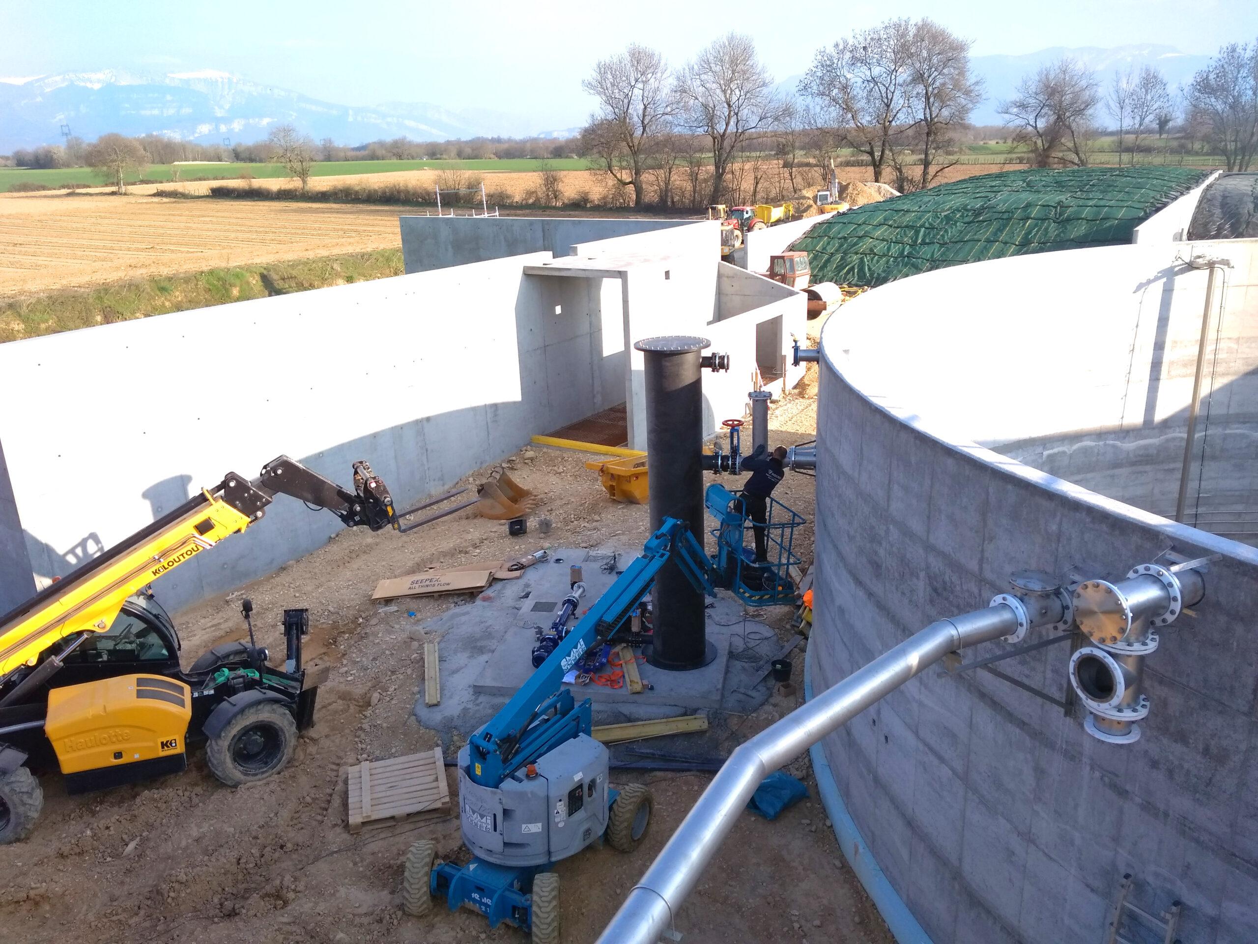 Biogás Planta Méthanisère Francia Vista General 04