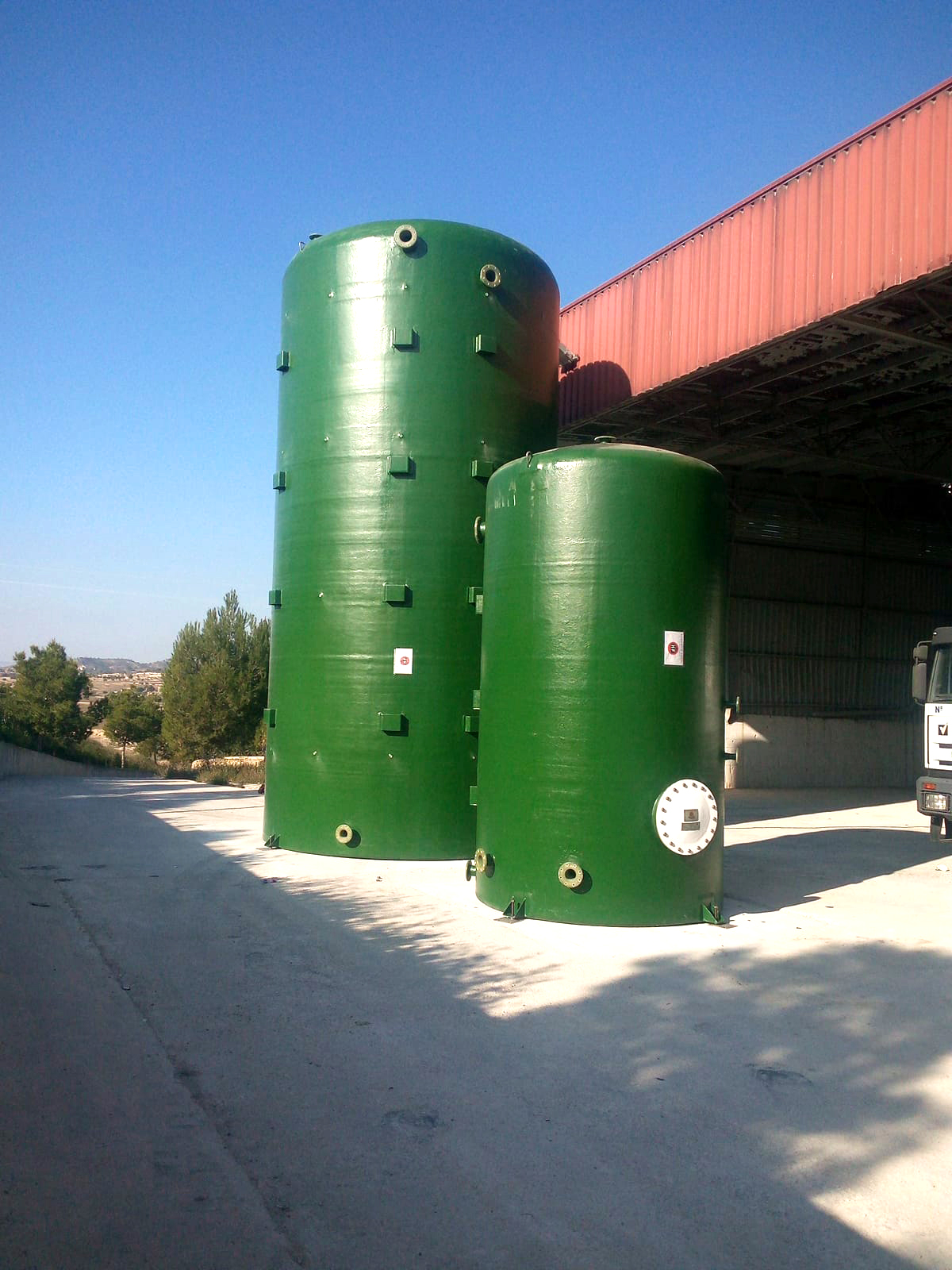 ValueWaste delivery installation tanks ValueWaste entrega instalación tanques 06