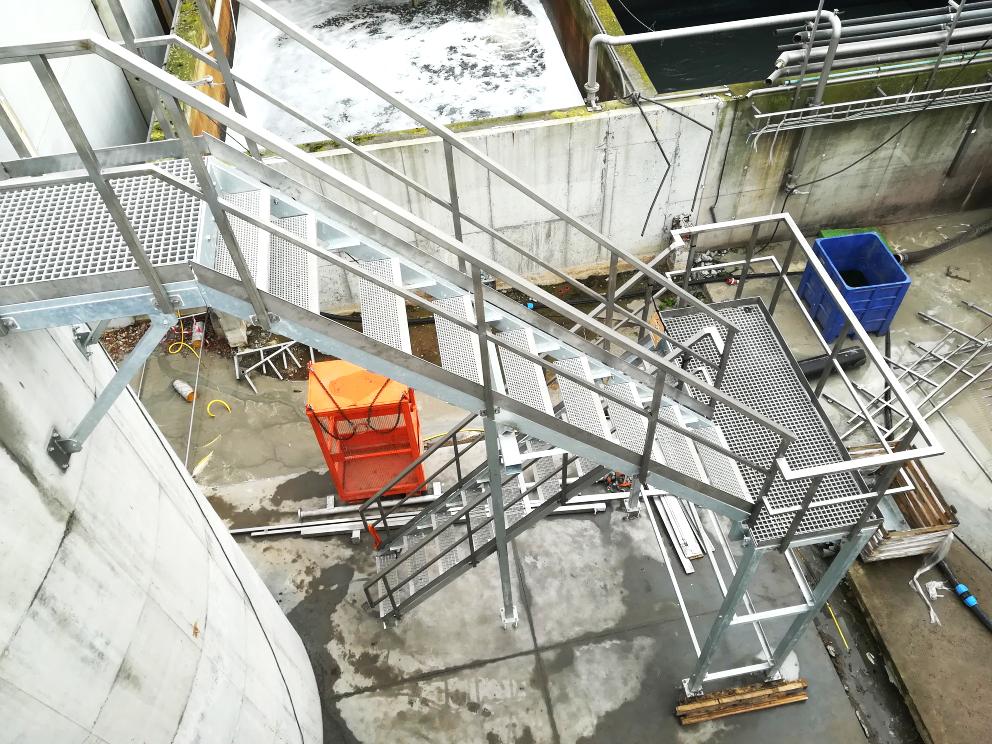 Planta de Tratamiento de Aguas Nazareth-Escalera Torre Mengtank