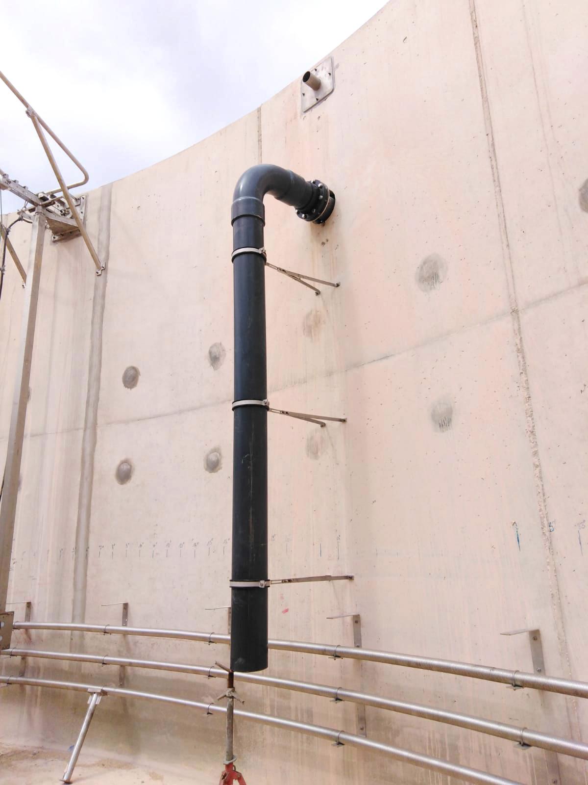 PlantaBiogás LAP Biogaz-EnviTec-Instalación equipos interior del digestor05