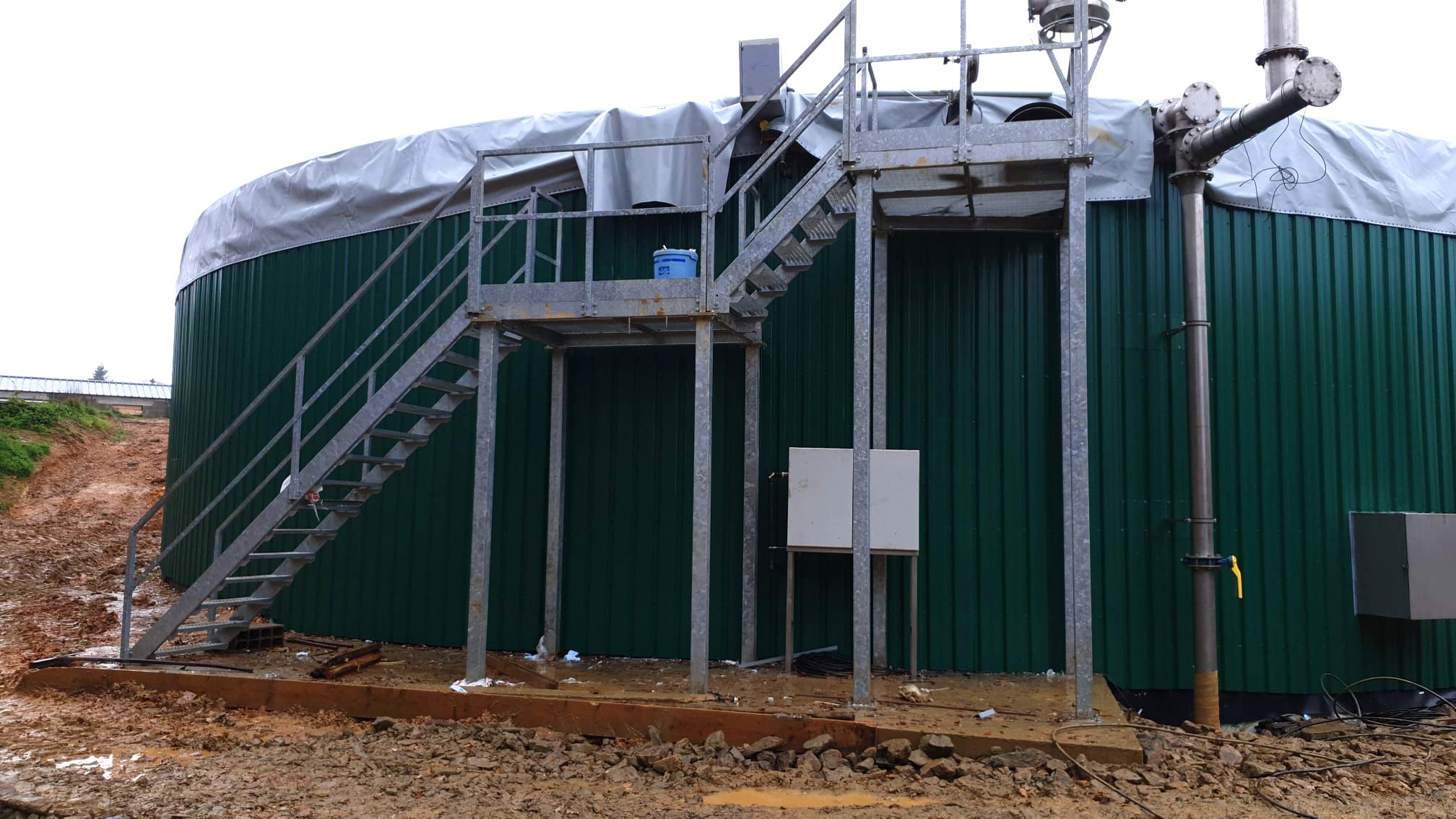 PlantaBiogás LAP Biogaz-EnviTec-Trabajos de aislamiento y recubrimiento del digesto02
